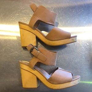 Tan wooden wedges